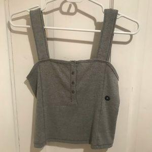 Gray Abercrombie Crop Top